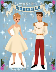 Cinderella Paper Dolls by Cory