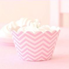 CHEVRON CUPCAKE WRAPPER - PINK - Simply Sweet Soirees