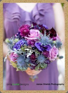 Purple thistle bouquet