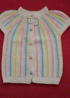 This Pin was discovered by seb Free Knitting, Baby Knitting, Crochet Baby, Knit Crochet, Tunic Designs, Embroidery Suits, Crochet Jacket, Moda Emo, Baby Cardigan