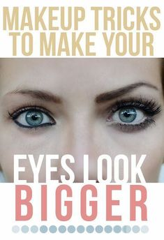 hacks makeup tricks How To Make Small Eyes Appear Bigger: We can always create an illusion by using clever make-up techniques. Here we will take you through some simple tips and tricks that helps make your eyes look bigger. Makeup Tricks, Beauty Makeup Tips, Beauty Hacks, Makeup Ideas, Beauty 101, Daily Beauty, Beauty Skin, Beauty Advice, Beauty Ideas