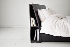 IKEA Kopfteile für Betten wie z. B. OPPDAL Kopfteil mit Ablage in Schwarzbraun