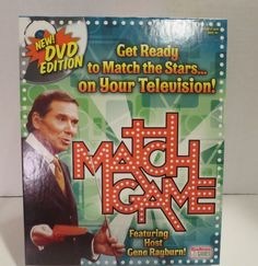 NEW DVD Edition Match Game  Featuring Host Gene Rayburn! Match the Stars on TV! #EndlessGames