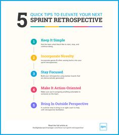 A Sprint Retrospective That Knocks Your Team's Socks Off (Here's How 5 quick sprint retrospective tips to make your next one more quick sprint retrospective tips to make your next one more effective. Agile Project Management Tools, Management Styles, Management Quotes, Management Logo, Management Tips, Machine Learning Deep Learning, Energy Technology, Medical Technology, Technology Gadgets
