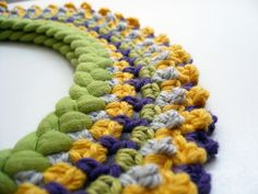 Cute crochet collar - this flickr user has lots of cute things in her stream