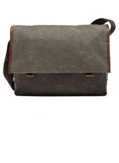 Property Of... Wax Canvas Dark Olive Walker Work Bag