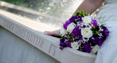 Fresh, Beatiful, purple, greens, & whites in a Summer Hand-tied Bouquet