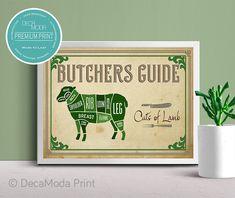 Lamb Cuts Wall Art Pork Cuts Chart, Lamb Cuts, Vintage Style, Vintage Fashion, Artwork Prints, Texture, Wall Art, Paper, Frame