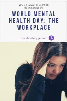 #WorldMentalHealthDay- #Workplace #discrimination #stigma #hostileWorkEnviroment #depression #MentalHealth #MentalIllness Mental Health Symptoms, Mental Health Resources, Mental Health Day, Mental Health Conditions, Mental Health Awareness, Mental Illness, Chronic Illness, Chronic Pain, Fibromyalgia