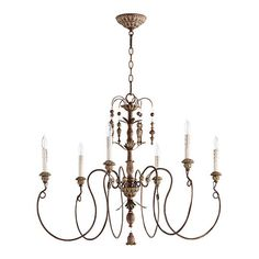 Features:  -Socket: Candelabra.  -UL type: Dry.  Chandelier Type: -Candle-Style chandelier.  Finish: -Vintage Copper.  Number of Lights: -6.  Bulb Wattage: -60 Watts.  Bulb Type: -Incandescent.  Mater