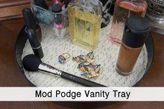 Mod Podge Vanity Tray via @becomingfab