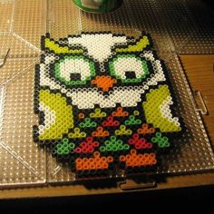 Owl perler beads by ndbigdi