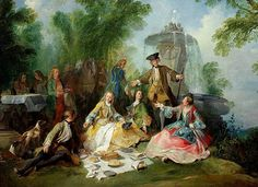 The Hunting Party Meal, 1737 by Nicolas Lancret (1690-1743)