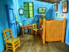 Bedroom at Arles Diorama by OutofTrees on Etsy  Leo turned a Van Gogh into 3D.  I love it!
