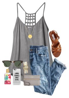 """""""Keep calm"""" by sophiaj002 ❤ liked on Polyvore featuring RVCA, J.Crew, Steve Madden, BaubleBar, Casetify, Ray-Ban, Elizabeth Arden, Tory Burch and Kate Spade"""