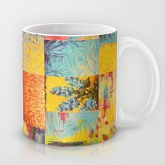 COLORFUL INDECISION 2 - Vibrant Wow Beautiful Abstract Acrylic Painting Collection Nature Rainbow Mug by EbiEmporium - $15.00 #bold #colorful #cup #modern #home #decor #decorative #kitchen #accessories #gift #abstract #tea #art #nature #cool #trendy #pattern #rainbow #collage #stylish