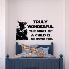 Yoda Wall Decal Star Wars Quotes Truly Wonderful The Mind Of A Child Is- Star Wars Wall Decal Kids Room Boys Bedroom Wall Art Quotes  Approximate