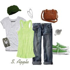"""""""Greens"""" by sapple324 on Polyvore"""