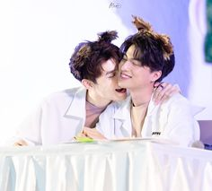 Why are they so cute for Sailor Moon, The Moon Is Beautiful, Theory Of Love, My Photos, Couple Photos, Cute Gay Couples, Thai Model, Thai Drama, Cute Relationship Goals