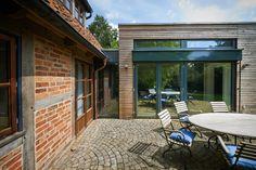 Studio als Holzriegel Patio, Studio, Outdoor Decor, Home Decor, Steel, Timber Wood, Decoration Home, Room Decor, Studios