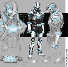 Chest Config -Blinding light set in chest's center Alien Character, Comic Character, Character Concept, Super Hero Outfits, Super Hero Costumes, Superhero Characters, Fantasy Characters, Kamen Rider, Armor Concept