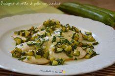 Ecco le scaloppine di petto di pollo con zucchine, una versione semplicissima e gustosa che sfrutta il sapore delle zucchine.