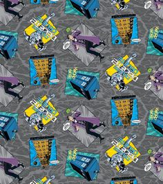 Doctor Who Madman With A Box Cotton Fabric