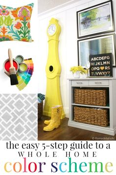 Just FIVE steps to creating your own personalized home color scheme. It really is that easy! @Remodelaholic #spon