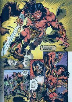 Book Cover Art, Comic Book Covers, Conan The Barbarian Comic, Fantasy Story, Fantasy Art, Conan The Destroyer, Male Figure Drawing, Conan Comics, Fantasy Heroes
