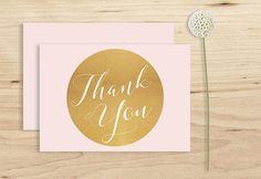 Pink thank you Card Printable Instant Download by PucciPaperie