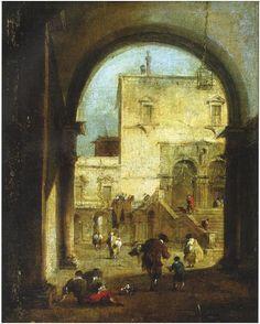 Франческо Гварди (1712-1783). Вид площади с дворцом. Исполнено между 1775 и 1780 годом.