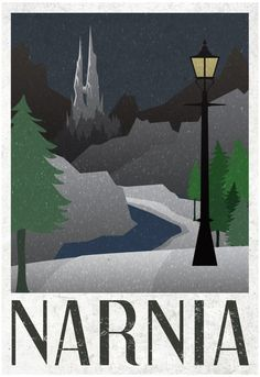 Amazon.com: Narnia Retro Travel Poster 13 x 19in with Poster Hanger: Prints: Posters & Prints