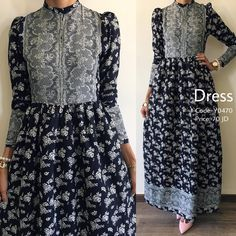 No photo description available. Abaya Fashion, Muslim Fashion, Modest Fashion, Skirt Fashion, Fashion Dresses, Hijab Fashion Summer, Desi Wedding Dresses, Pakistani Formal Dresses, Simple Long Dress