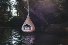 Hanging Birdhouse-Shaped Hut for Humans | Dornob