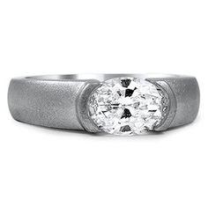 Custom Ring, Frosted Semi-Bezel Ring
