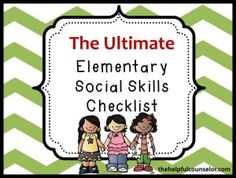 RTI - Comprehensive social skills checklist helps identify needs and monitor response to intervention. Use the social skills checklist to plan social skills goals. Social Skills Lessons, Social Skills Activities, Teaching Social Skills, Counseling Activities, Social Emotional Learning, Group Counseling, Counseling Office, Coping Skills, Kid Activities