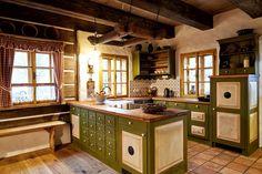 Návrh a realizace dobových interiérů roubenek - roubenkyroubal. Traditional House, Sliders, Home Kitchens, Homesteading, Liquor Cabinet, Kitchen Island, Shabby Chic, Rustic, Interior Design