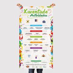 Diseño de cartel informativo de las actividades par la juventud durante el verano en el concello de Vedra #Diseño #Cartel #Xuventude #Vedra #DiseñoGalicia #4BajoCero #Publicidad #Carteleria