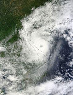 Typhoon Wutip (20W) over Indochina