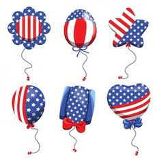 Balloons collection with american flag colours