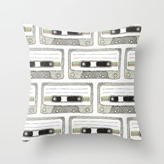 Mixtape Throw Pillow