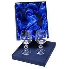 Engraved Small Crystal Wine Glasses in Gift Box