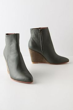 Booties. Neutral color with a twist.