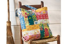 Patchwork free carryall tote pattern