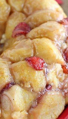 Vanilla Strawberry Monkey Bread