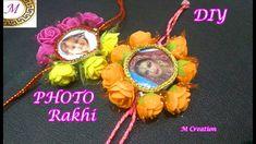 photo rakhi/floral photo rakhi making Quilling Paper Craft, Paper Crafts, Rakhi Making, How To Make Photo, Handmade Rakhi, Diy Photo, Handmade Design, Craft Projects, Bling