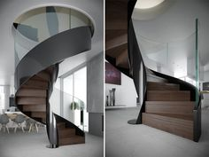 Spiral helical staircase Vortika by Officine Sandrini
