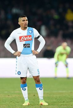 Allan of SSC Napoli show his disappointment after the Serie A match between SSC Napoli and US Citta di Palermo at Stadio San Paolo on January 29, 2017 in Naples, Italy.