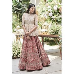 Then you are going to love the latest Jayanti Reddy Summer Lehengas. Beautiful scallop dupatta, fit & flare lehenga skirt + more. Indian Gowns Dresses, Indian Fashion Dresses, Indian Designer Outfits, Designer Dresses, Pakistani Dresses, Fashion Fashion, Fashion Ideas, Fashion Inspiration, Indian Bridal Lehenga