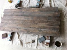 How to distress wood. Barn wood, old wood, Build a Rustic Sofa Table